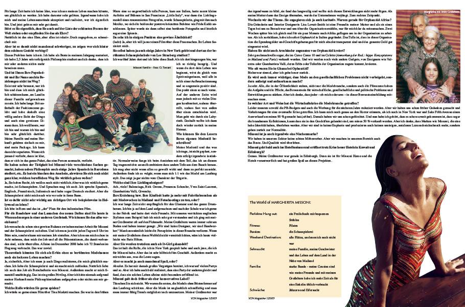VON Interview Margherita Missoni